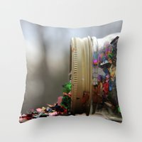 Sparkle Spill  Throw Pillow