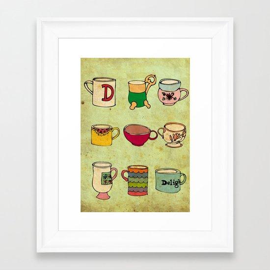 My Mugs! Framed Art Print