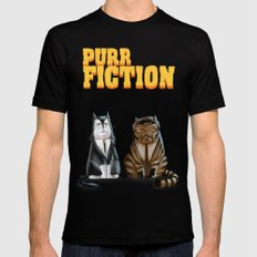 Purr Fiction Mens Fitted Tee Black SMALL
