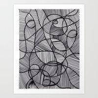 Black & White Abstract Art Print