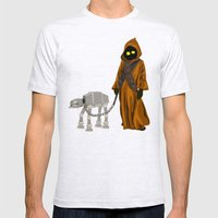 A Morning Walk - Jawa and Friend Mens Fitted Tee Ash Grey SMALL
