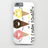 iPhone & iPod Case featuring Ice cream Equality (reloaded) by Juliana Rojas   Puchu