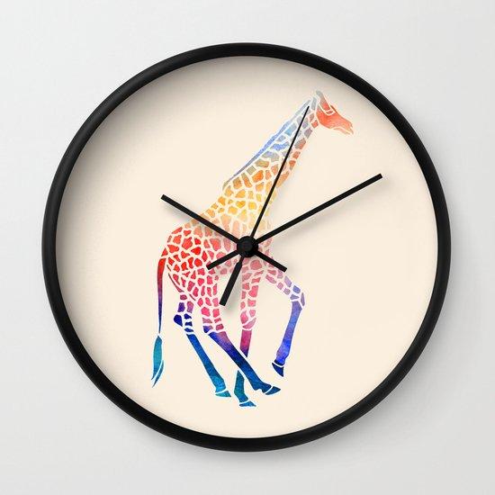 Watercolor Giraffe Wall Clock