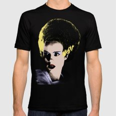 The Beautiful Bride of Frankenstein Mens Fitted Tee Black SMALL