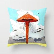 Méduse Volante #1 Throw Pillow