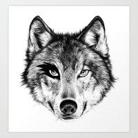 The Wolf Next Door Art Print