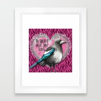 Queen Of Bright Shiny Th… Framed Art Print