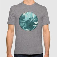 Banana Palm Mens Fitted Tee Tri-Grey SMALL