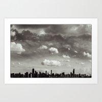 Chicago Skyline - Lone C… Art Print