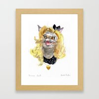 Fancy Cat Framed Art Print