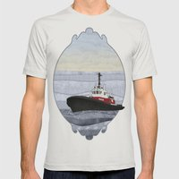 Tugboat Mens Fitted Tee Silver SMALL