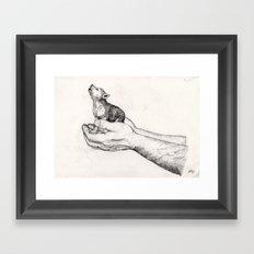 Wolf Cub // Graphite Framed Art Print