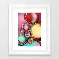 Oil & Water with Candy Framed Art Print