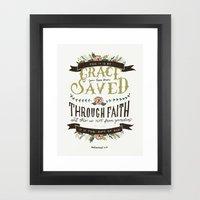 36/52: Ephesians 2:8 Framed Art Print