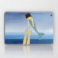 Triton tossing his mermaid daughter Laptop & iPad Skin