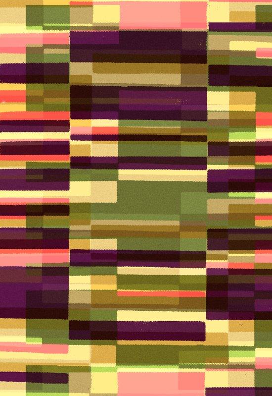 Green Blocks Photographic and Digital Pattern Art Print