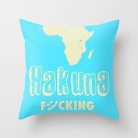 Hakuna Matata Africa Throw Pillow