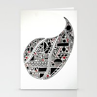 Paisley Geo Melee Stationery Cards