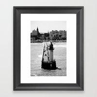 Calais Lighthouse Framed Art Print