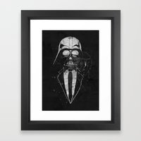 Darth Vader Gentleman Framed Art Print