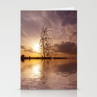 Digital sunsets  Stationery Cards
