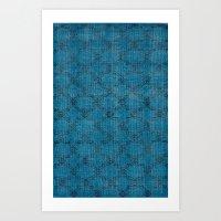 Overdyed Rug 1 Aqua Art Print