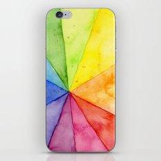 Rainbow Watercolor Geometric Pattern iPhone & iPod Skin