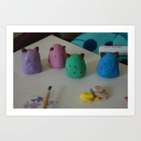 Blob Family. Art Print