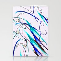 Snow Blinded - Abstract Digital oil Painting Stationery Cards