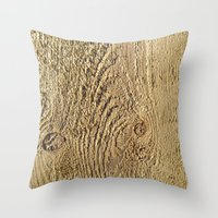 Unrefined Wood Grain Throw Pillow
