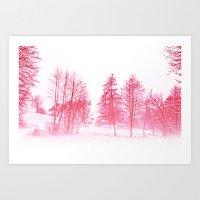 Pink Winter Art Print