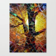 Abstract Glass Mosaic Tr… Canvas Print