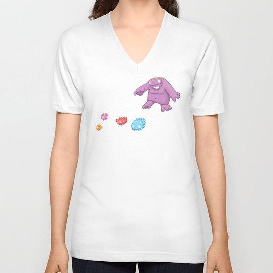 Marshmallow Hunting V-neck T-shirt