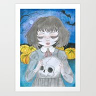 Art Print featuring Halloween by  Louie
