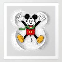 Snow Mickey Art Print