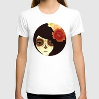 La Muertita Womens Fitted Tee White SMALL