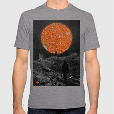 Wrecked Dimension Mens Fitted Tee Tri-Grey SMALL