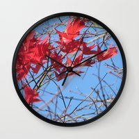 Autumn Leaves 2 Wall Clock