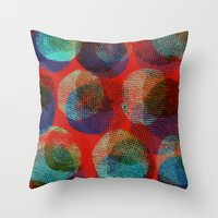 Textured Circles Throw Pillow