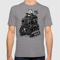 Panda Mens Fitted Tee Tri-Grey SMALL