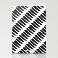 Black and White Tiger Stripes Stationery Cards