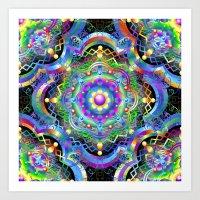 Mandala Psychedelic Art … Art Print