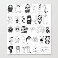 Creatures Canvas Print