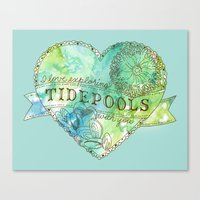 I Love Exploring Tidepools With You Canvas Print