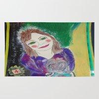 Self Love Portrait for Inner Peace  Rug