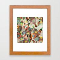 Rings Pattern  Framed Art Print