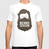 Beard Season Mens Fitted Tee White SMALL