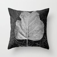 """The fall of a leaf is a whisper to the living"" Throw Pillow"
