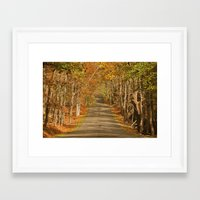A Rise in the Road Framed Art Print