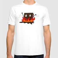 Spicy Chocolate Mens Fitted Tee White SMALL